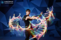 Collapsible LED Dragon Staff / Contact Staff / 2 in 1